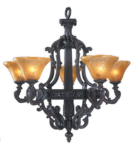 HA Framburg Centennial 5 Light Chandelier in Mahogany Bronze 1505MB photo