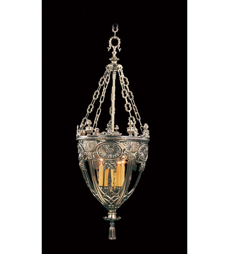 HA Framburg Centennial 5 Light Foyer Chandelier in French Brass 1643FB photo