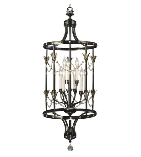 HA Framburg Princessa 9 Light Foyer Chandelier in Ebony 2069EBONY photo