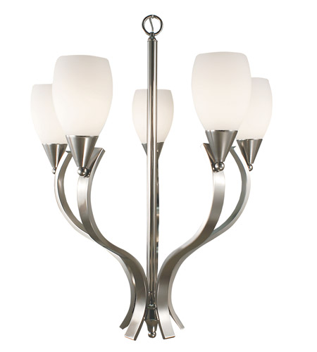 HA Framburg Solstice 5 Light Chandelier in Brushed Nickel 2075BN photo