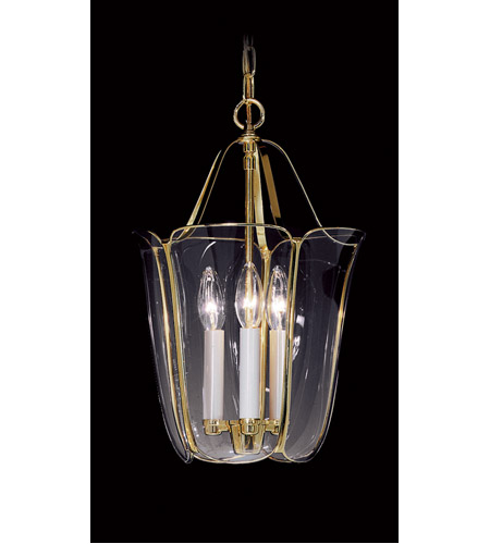 Framburg 2080PB Yorkshire 3 Light 11 inch Polished Brass Foyer Chandelier Ceiling Light in Without Shade photo