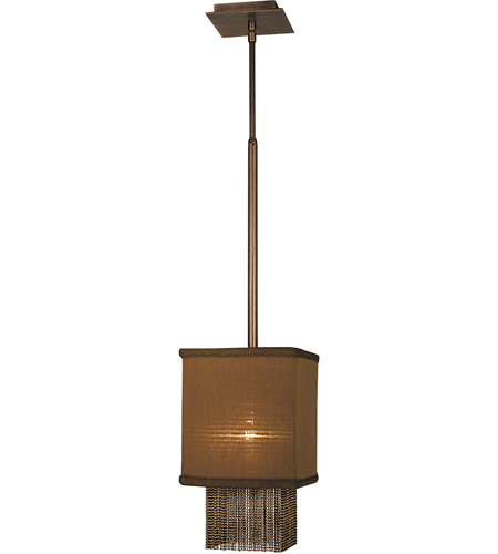 HA Framburg Gymnopedie 1 Light Pendant in Siena Bronze w/ Chocolate Shade 2110SBR/CH photo