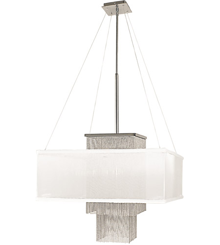 HA Framburg 2118PS/CH Gymnopedie 1 Light 22 inch Polished Silver/Charcoal Dining Chandelier Ceiling Light photo