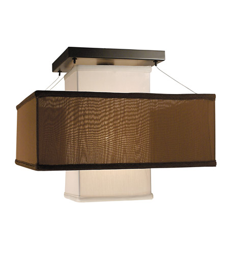 HA Framburg Gymnopedie 1 Light Flush Mounts and Semi-Flush Mounts in Mahogany Bronze/WI/CO 2134MB/WI/CO photo