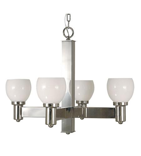 HA Framburg Moderne 4 Light Chandelier in Polished Silver 2148PS photo