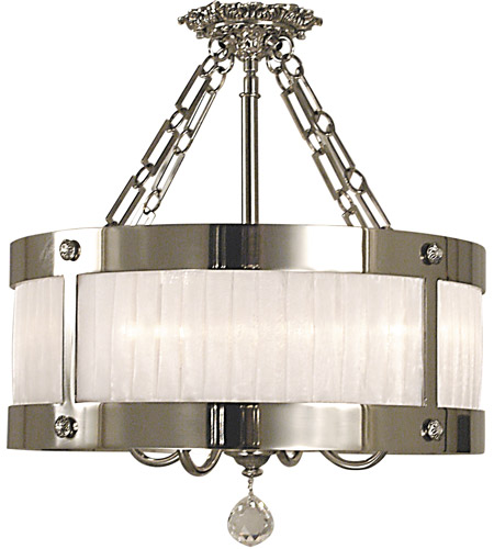 HA Framburg Angelique 5 Light Semi-Flush Mount in Polished Silver 2164PS photo