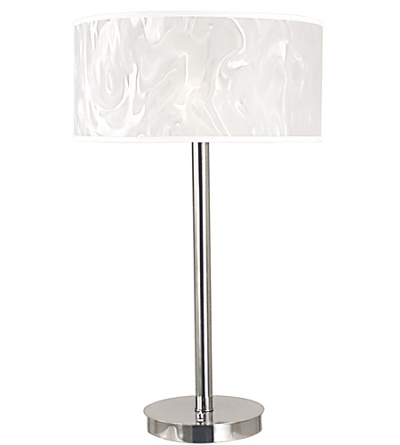 HA Framburg Cirrus 3 Light Table Lamp in Polished Silver 2181PS photo