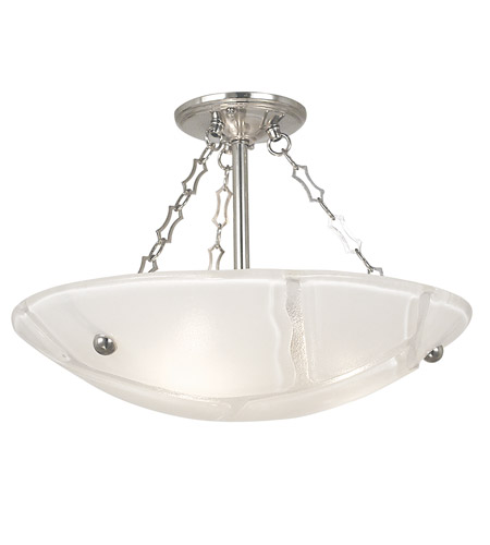 HA Framburg Veronique 3 Light Semi-Flush Mount in Polished Silver 2261PS photo