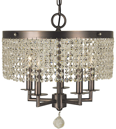 HA Framburg Princessa 5 Light Chandelier in Siena Bronze 2275SBR photo