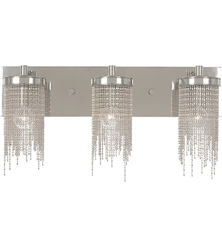 HA Framburg Arabesque 3 Light Bath Light in Polished Silver 2293PS photo