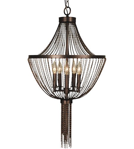 Framburg 2309PS Guinevere 5 Light 18 inch Polished Silver Dining Chandelier Ceiling Light photo