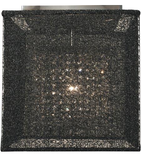 HA Framburg Chloe 1 Light Flush Mounts and Semi-Flush Mounts in Mahogany Bronze/Black Mesh 2321MB/BM photo