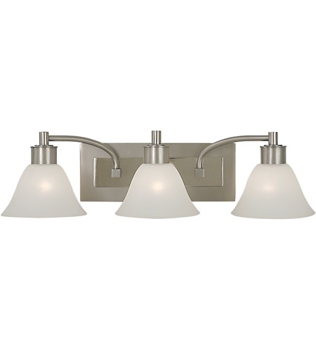 HA Framburg Mercer 3 Light Bath Light in Satin Pewter w/ Polished Nickel Accents 2353SP/PN photo