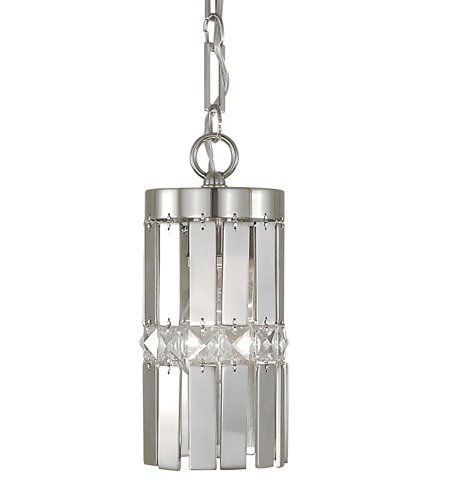 HA Framburg Nathaniel 1 Light Pendant in Polished Silver 2361PS photo