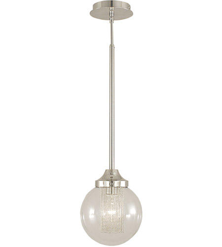 Framburg 2380PS Gymnopedie 1 Light 8 inch Polished Silver Pendant Ceiling Light photo