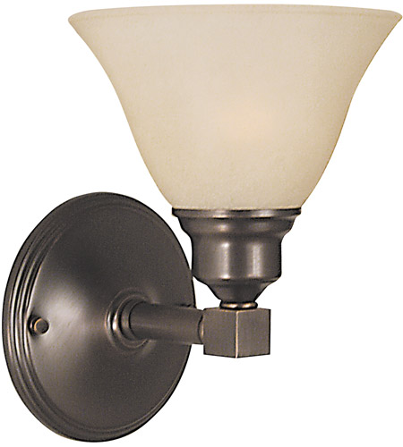 HA Framburg Taylor 1 Light Bath Light in Siena Bronze/Champagne Marble 2421SBR/CM photo