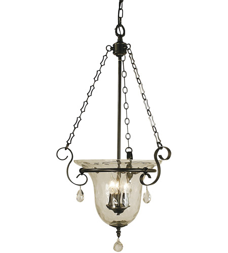 HA Framburg Carcassonne 3 Light Foyer Chandelier in Mahogany Bronze 2919MB photo