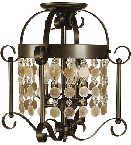 Framburg 2927MB Naomi 4 Light 15 inch Mahogany Bronze Semi-Flush Mount Ceiling Light photo