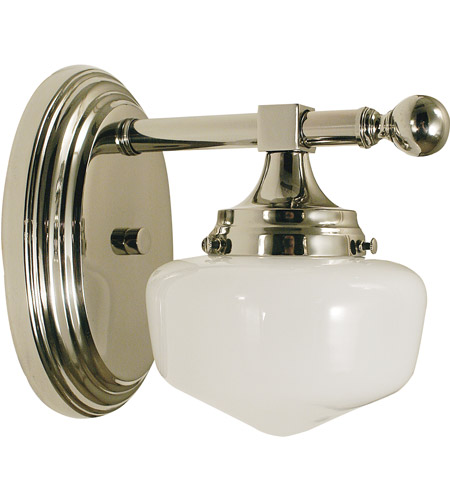 HA Framburg Taylor 1 Light Bath and Sconce in Polished Nickel 2937PN photo