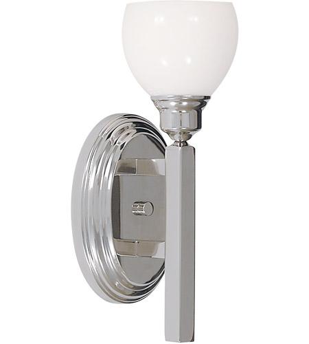 HA Framburg Belmont 1 Light Bath Light in Polished Silver 3011PS photo