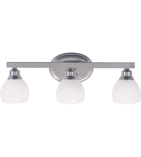 HA Framburg Belmont 3 Light Bath Light in Polished Silver 3013PS photo