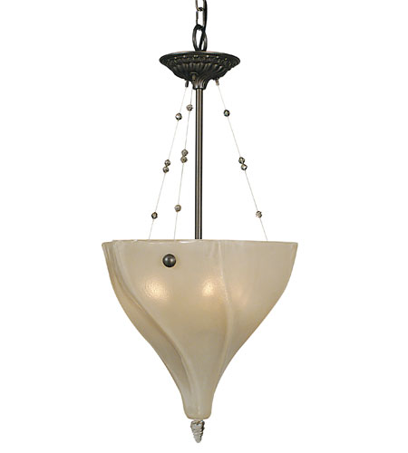 HA Framburg 3474MB Giselle 3 Light 14 inch Mahogany Bronze Pendant Ceiling Light photo