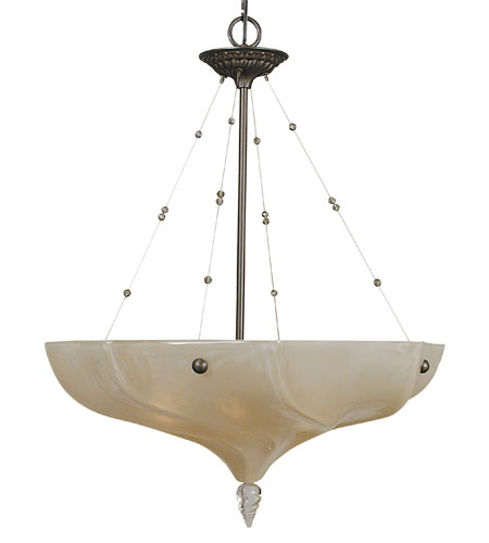 HA Framburg Giselle 4 Light Chandelier in Mahogany Bronze 3475MB photo