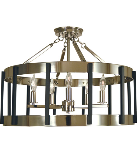 Framburg 4666pn Mblack Pantheon 5 Light