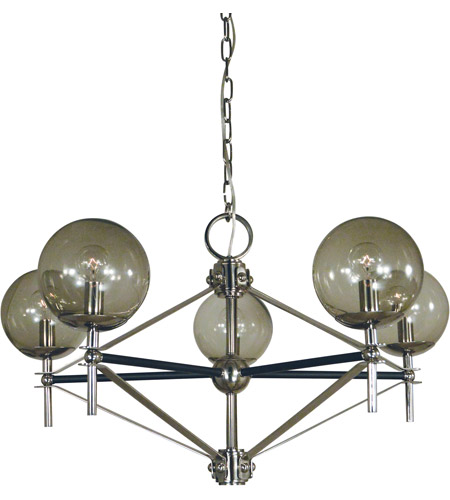 Framburg Polished Nickel Metal Chandeliers