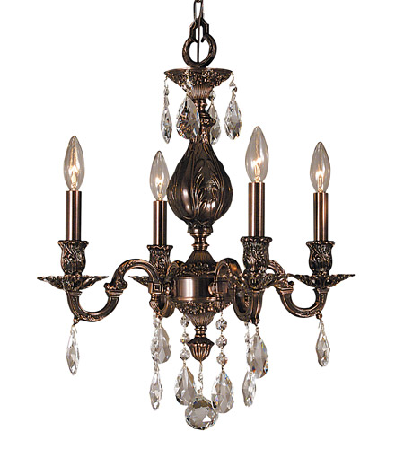 HA Framburg Czarina 4 Light Mini Chandelier in Roman Bronze 5594RB photo