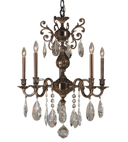 HA Framburg Czarina 5 Light Chandelier in Roman Bronze 5595RB photo