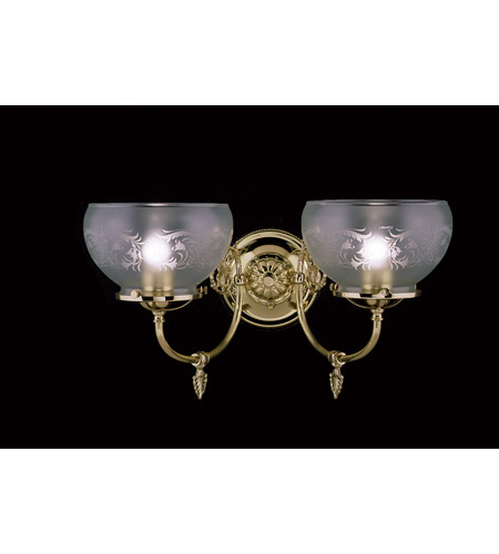 HA Framburg Chancery 2 Light Bath Light in Polished Brass 7522PB photo