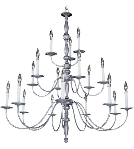 HA Framburg Jamestown 18 Light Foyer Chandelier in Satin Pewter 7918SP photo