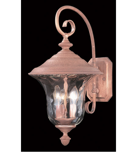 Framburg 8325RC Carcassonne 3 Light 20 inch Raw Copper Exterior Wall Lantern photo