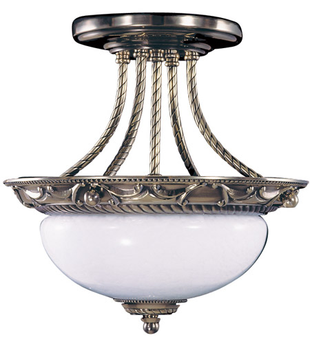 HA Framburg 8397FB Napoleonic 2 Light 12 inch French Brass Semi-Flush Mount Ceiling Light photo