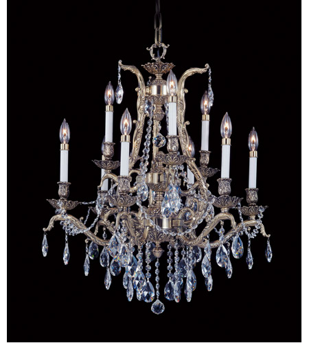 Framburg 8429FB Czarina 9 Light 28 inch French Brass Dining Chandelier Ceiling Light photo
