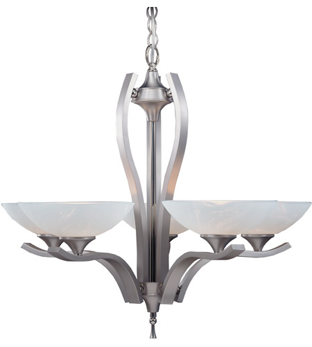 Framburg 8805SP/PN Solstice 5 Light 29 inch Satin Pewter with Polished Nickel Dining Chandelier Ceiling Light photo