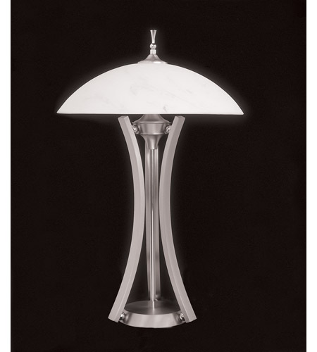 HA Framburg Solstice 3 Light Table Lamp in Satin Pewter/Polished Nickel 8810SP/PN photo