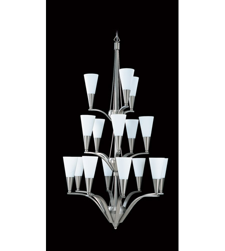 HA Framburg Solstice 16 Light Foyer Chandelier in Brushed Stainless/Polished Nickel 8836BS/PN photo
