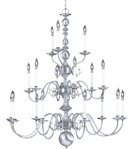 Framburg 9148SP Jamestown 18 Light 41 inch Satin Pewter Foyer Chandelier Ceiling Light photo