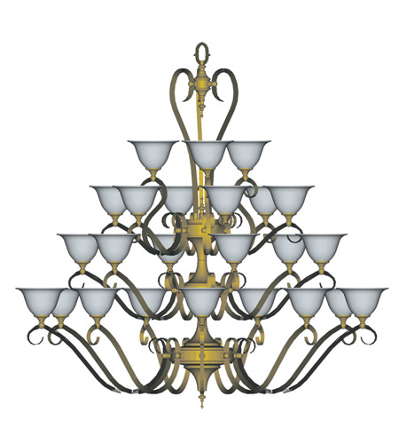 HA Framburg Black Forest 24 Light Foyer Chandeliers in Satin Pewter/White 9166SP/WH photo