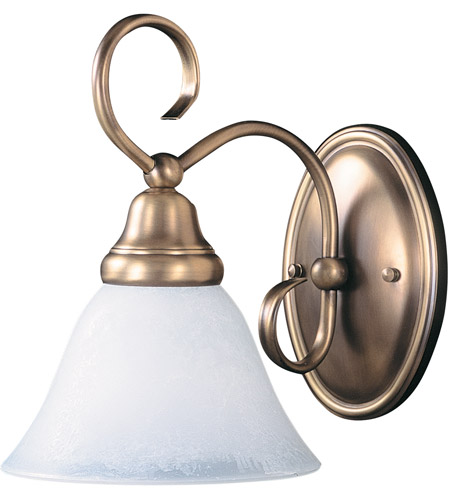HA Framburg Black Forest 1 Light Bath Light in Harvest Bronze/White Marble 9171HB/WH photo