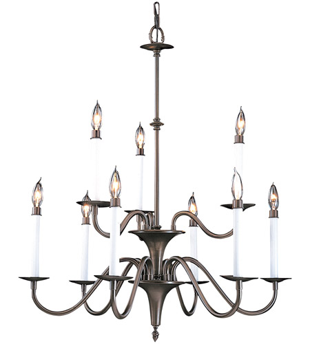 Framburg 9229MB Jamestown 9 Light 28 inch Mahogany Bronze Dining Chandelier Ceiling Light photo