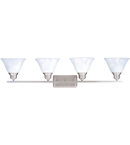 HA Framburg Solstice 4 Light Bath Light in Brushed Stainless/Polished Nickel 9324BS/PN photo
