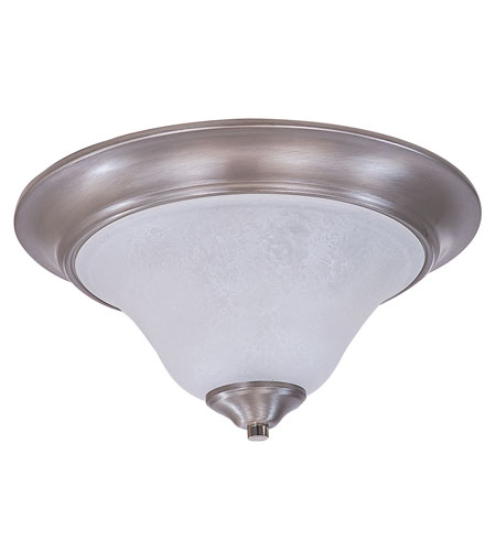 HA Framburg Solstice 2 Light Flush Mount in Brushed Stainless/Polished Nickel/White Marble 9326BS/PN photo