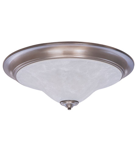 HA Framburg 9328BS/PN Solstice 3 Light 25 inch Brushed Stainless/Polished Nickel/White Marble Flush Mount Ceiling Light in Polished Nickel and White Marble photo