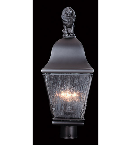 HA Framburg Coeur de Lion 3 Light Exterior in Iron 9611IRON photo