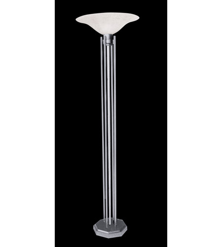 HA Framburg Solstice 1 Light Floor Lamp in Brushed Stainless/Polished Nickel Accents 9623BS/PN photo