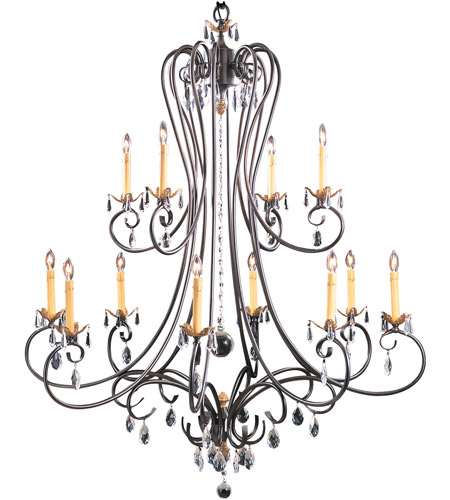 HA Framburg Liebestraum 12 Light Foyer Chandelier in Mahogany Bronze 9907MB photo