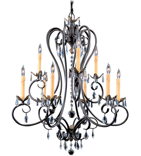 HA Framburg Liebestraum 9 Light Chandelier in Mahogany Bronze 9909MB photo